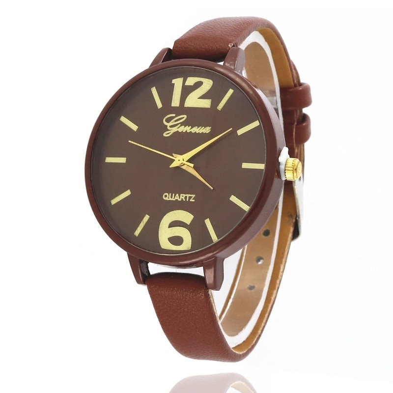 Luxury Wrist Watches Fashionable casual women Quartz Watch Small strap Big Dial Women Wathes Ladies