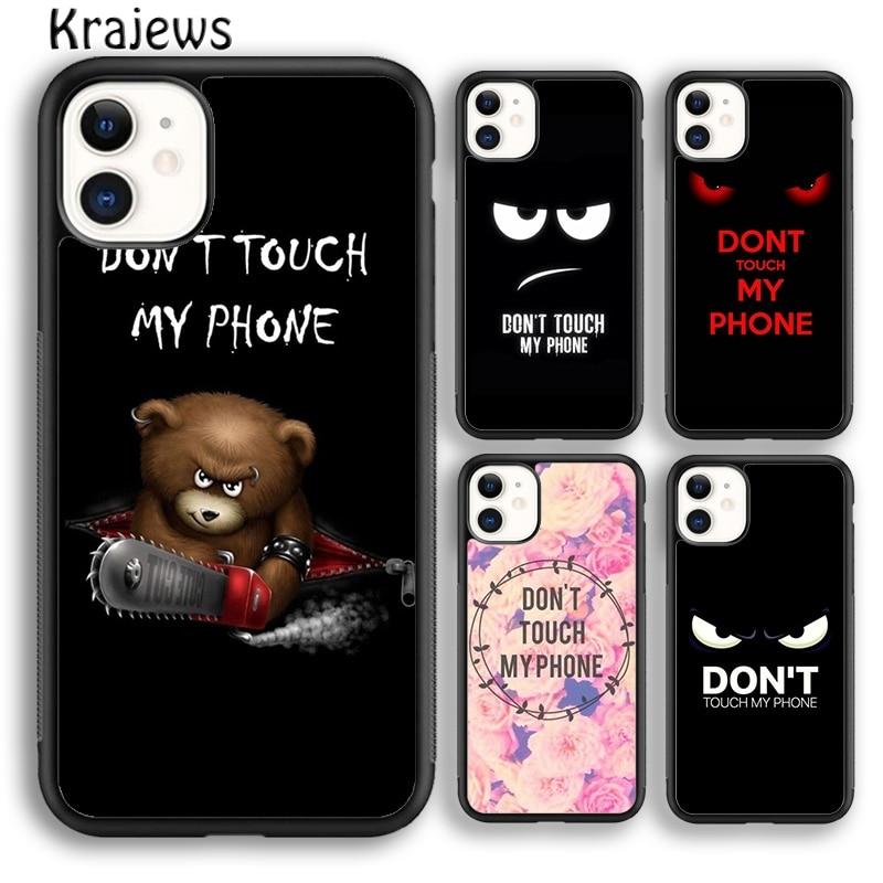 Krajews no toque mi teléfono suave cubierta de la caja del teléfono para iPhone 5s 6s 6 7 8 plus X XR XS 11 pro max Samsung Galaxy S8 S9 S10 Plus