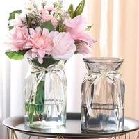 transparent glass vase household water culture lily vase living room desktop decor flower arrangement hydroponic tabletop vase