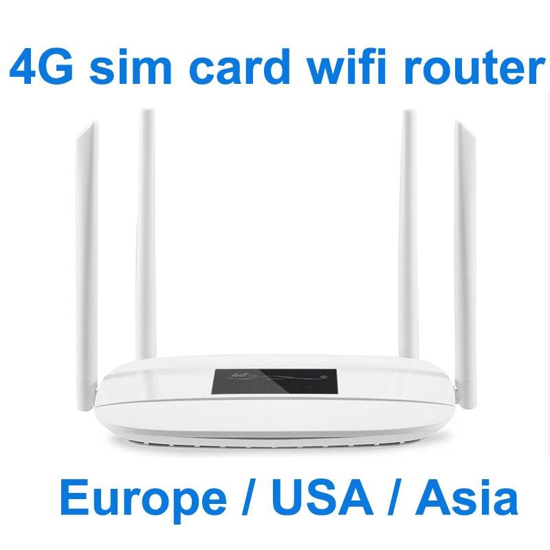 Router wifi 4G lte cpe, router wifi con tarjeta SIM 300m CAT4 32 wifi, router RJ45 WAN LAN interior lte CPE, router inalámbrico 1 orde