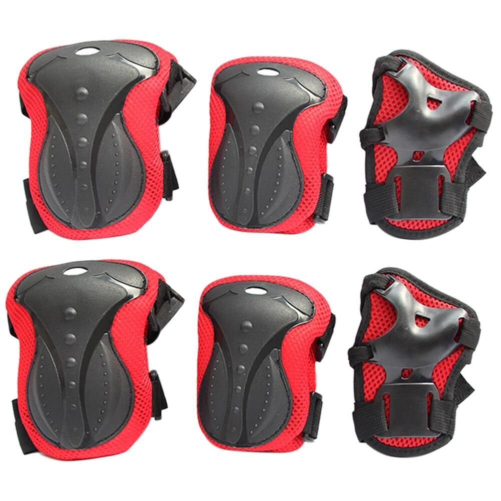 6 pièces Anti choc genouillères protège-poignets planche à roulettes sécurité roller Protection équipement de Protection patinage accessoires de corps en plein air