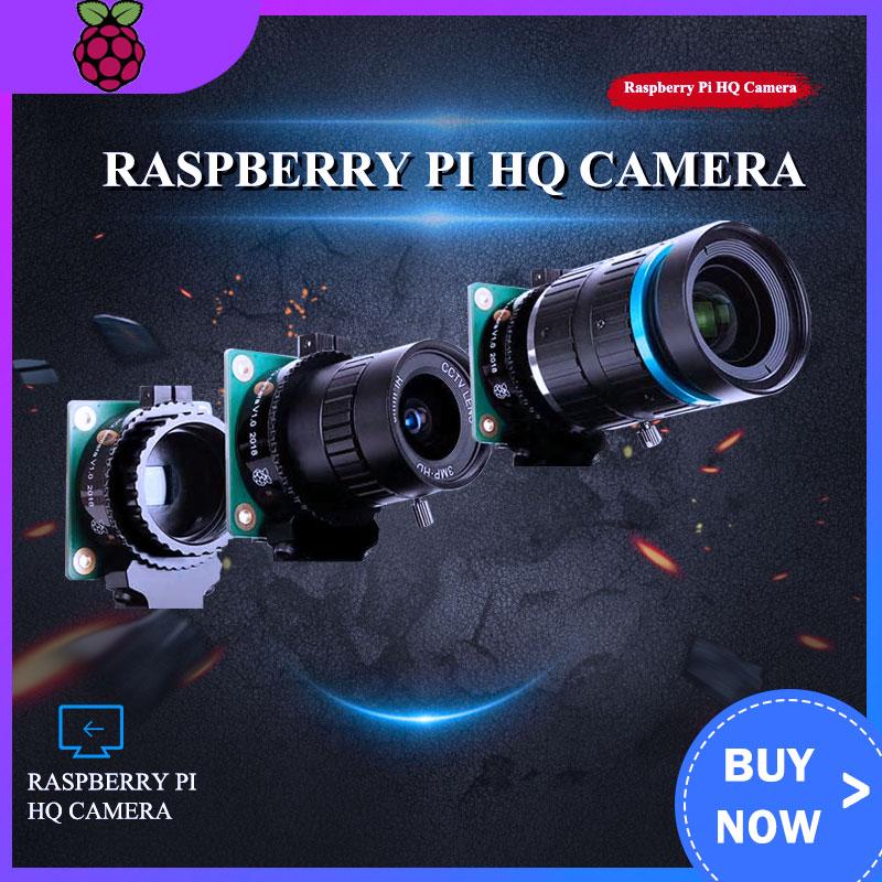 Raspberry Pi High Quality Camera Module 12.3 Megapixel Sony IMX477 Sensor Adjustable Focus 6mm CS 16mm C-mount Lens for 4B/3B+