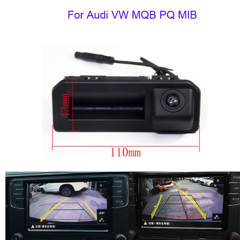RCD330 Plus-cámara de visión trasera para aparcar el maletero del coche MIB para Audi VW MQB PQ MIB 2017 Audi Q2 A5 Q5L Skoda KODIAQ KAROQ