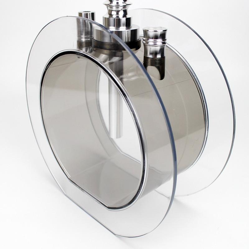 Acrylic Round Hookah Shisha Set with Led Light Metal Tongs Hose Narguile Chicha Accessories Transparent Sheesha Water Pipe Set enlarge