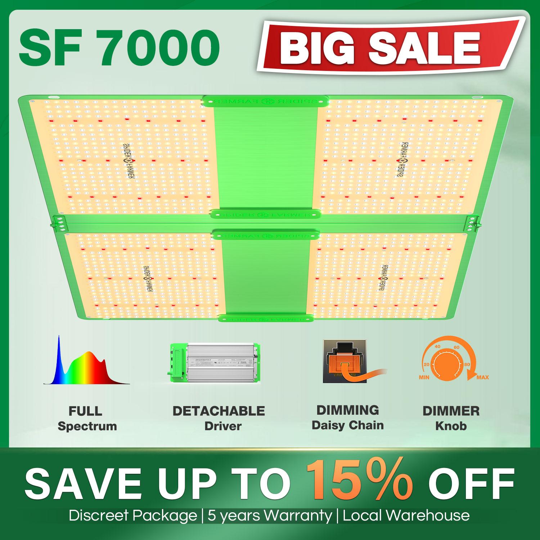 Spider Farmer SF 7000 LED Grow Light 650W Dimmable Phytolamp Full Spectrum Quantum Board for Indoor Veg Flowers Plants