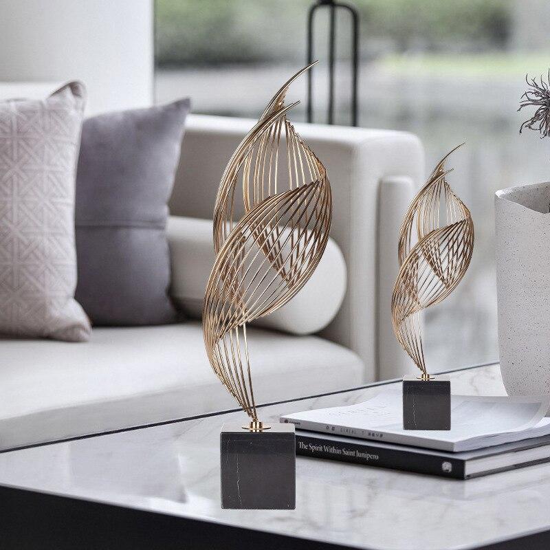 Decoração de Casa Aniversário do Hotel Criativo Nordic Simples Metal Luxo Artesanato Presente Salão Exposição Sala Estar Decorações Macias