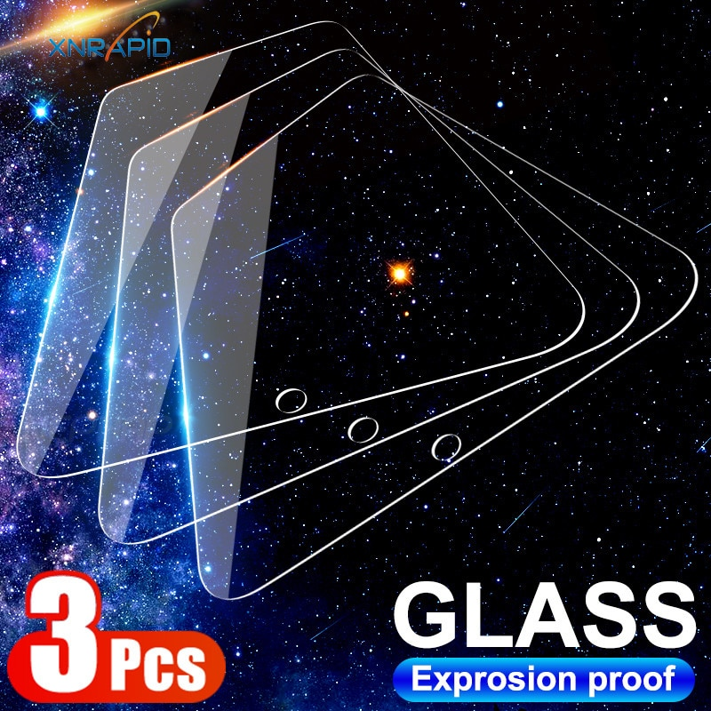 3Pcs Tempered Glass For Xiaomi Mi 9 8 SE 10 Lite 6 6X 5X Screen Protector Glass For Xiaomi 10T Pro Poco X3 NFC F1 F2 Pro Glass