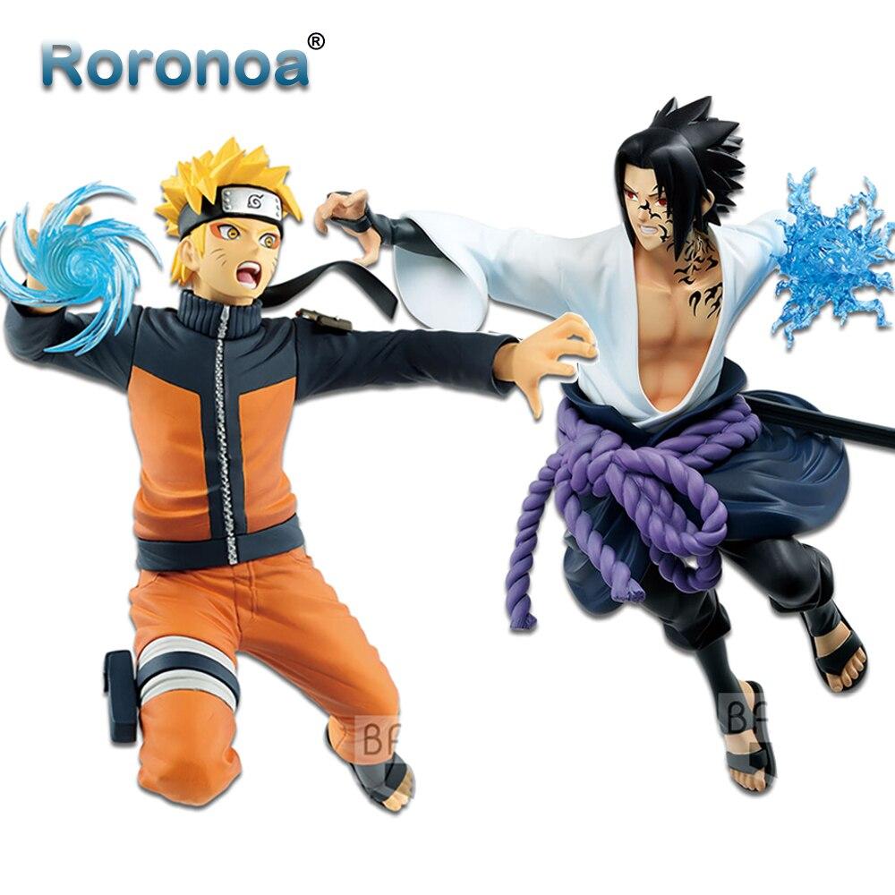 Roronoa original banpresto anime naruto vibração estrelas naruto sasuke ação figura coleção figurais modelo bonecas brinquedos