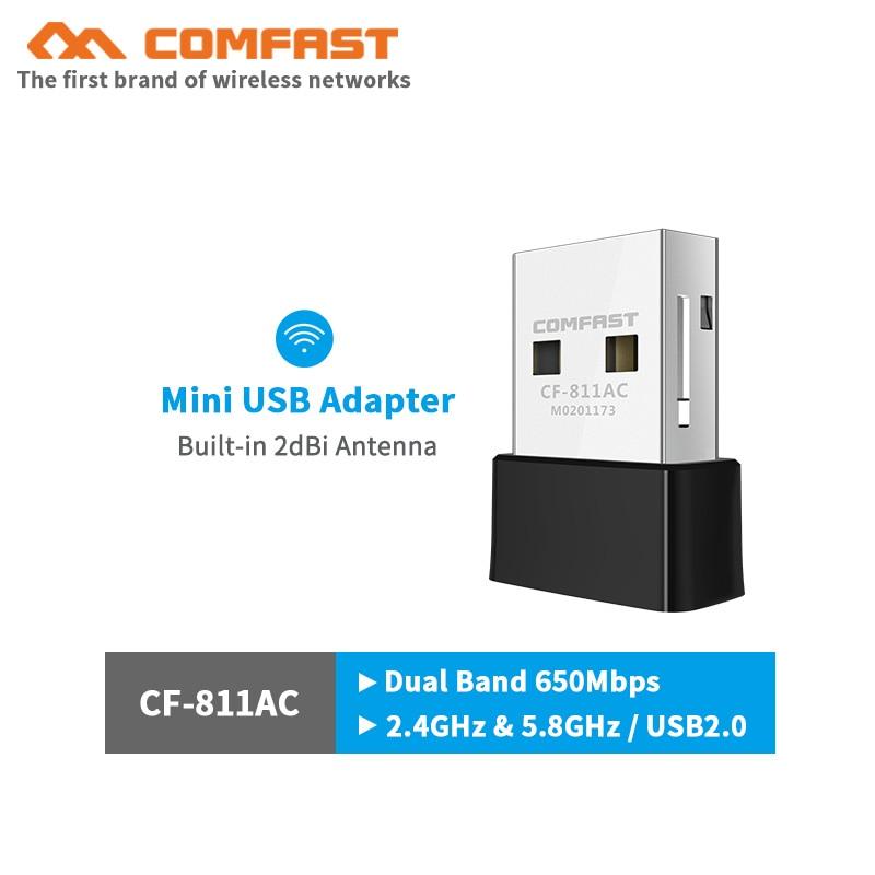 2.4G/5Ghz Dual band 1300Mbps Gigabit USB Mini Portable Unlimited Receiver CF-812AC USB WiFi Adapter For PC/Desktop/Laptop/Mac Os enlarge