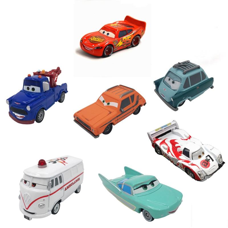7 см машинки Disney Pixar Cars Ramirez Lightning McQueen гоночный семейный литой металлический сплав игрушечный автомобиль для детей игрушка мальчик подарок без пульта