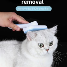 Self Cleaning Slicker Brush for Dog and Cat Removes Undercoat Tangled Hair Massages Particle Pet Com