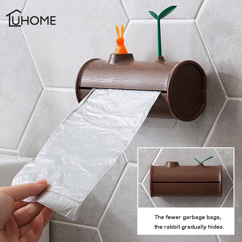 Креативный настенный ящик для хранения милый Outcrop кролик кухонный мешок для мусора для ванной стеллаж для хранения пластмассовый ящик Орга...
