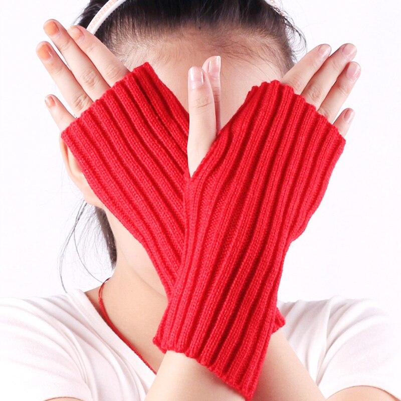 Фото - Women Fashion Wrist Arm Hand Warmer Winter Autumn Gloves Crochet Knitting Half Finger Gloves Mitten Soft Warm Fingerless Glove wool mittens warm fingerless gloves black hand warmer winter knitting gloves fashion gloves women arm wrist sleeve hand warmer