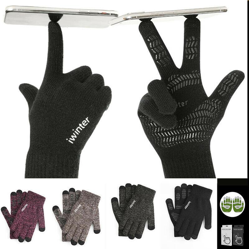 Unisex Men Women Classic Gloves Touch Screen Wool Knitted Winter Warm Touch Screen Gloves Men Women Wool Knitted Gloves