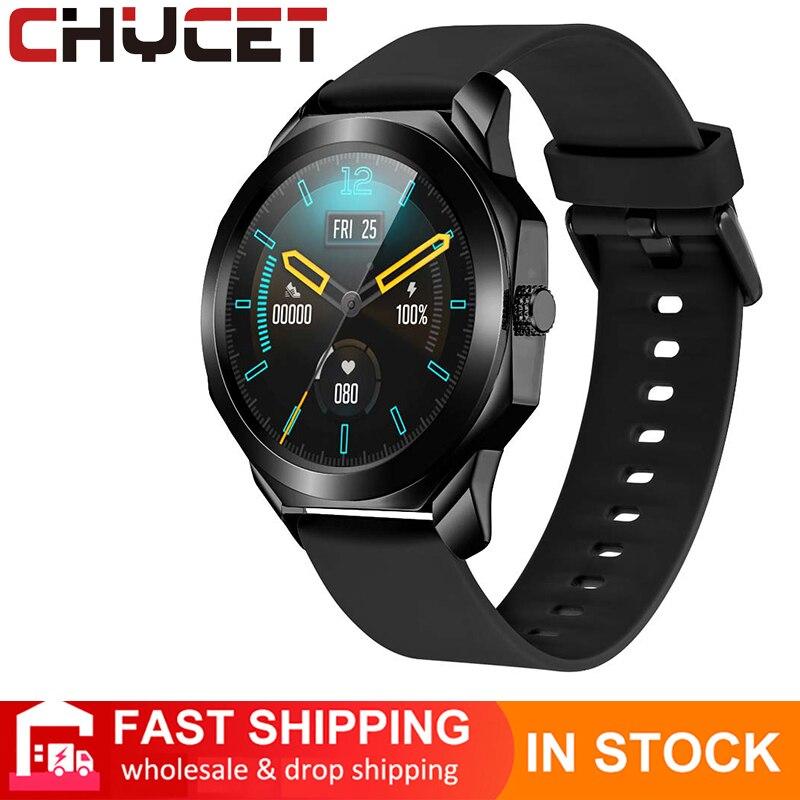 CHYCET 1.28 بوصة كامل اللمس جديد ساعة ذكية متعددة الرياضة وسائط 2021 Smartwatch الرجال النساء مراقب معدل ضربات القلب Watche ل IOS أندرويد