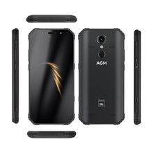 "AGM Smartphone Android 8.1 4G 64G sağlam telefon NFC ortak marka 5.99 ""FHD 5400mAh IP68 parmak izi tipi-C Quad-kutusu hoparlörler A9"