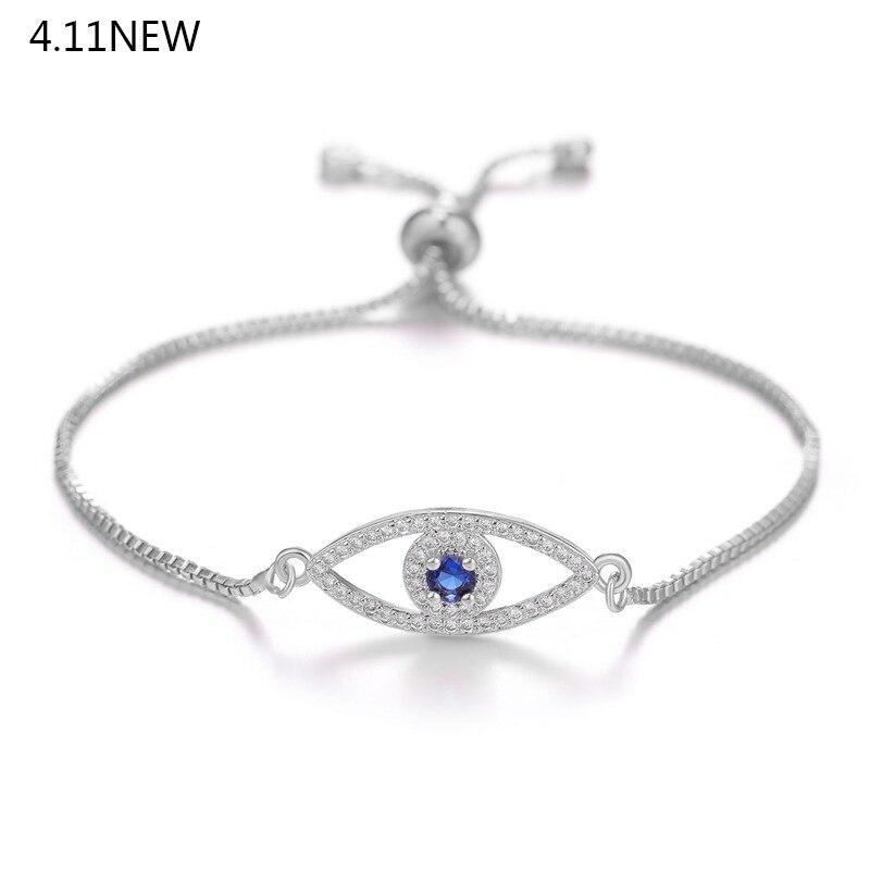 Turkish Blue Evil Eye Charm Bracelets For Women Female Friendship Vintage Hand of Fatima Bracelets ojo turco