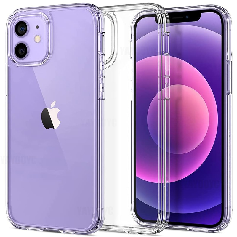 Luxury Ultra Thin Clear Case For iPhone 11 12 Pro XS Max Transparent Silicone For iPhone XR X 6 7 8 Plus Back Cover Phone Case