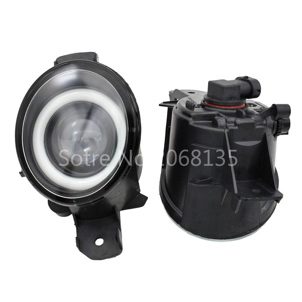 2 unids/par (derecha + izquierda) Conjunto de faros antiniebla LED H11 con ojo de ángel para Renault Master 3/III 2010 2011 2012 2013 2014