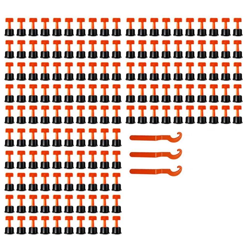 مجموعة أدوات نظام تسوية البلاط ، فواصل محاذاة التسوية ، محدد موقع التسوية ، كماشة أرضية سيراميك مسطحة ، 150 قطعة