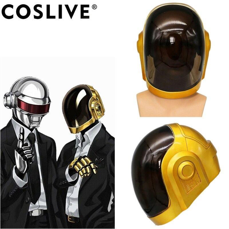 Coslive Daft Punk Helmet Mask Cosplay Resin Full Head Halloween Costume Props Replica For Adults
