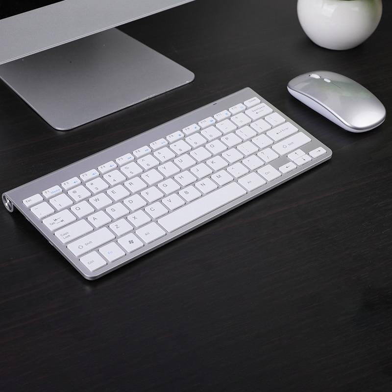 Mini sem Fio Teclado e Mouse Conjunto com Receptor Usb à Prova 2.4ghz para Computador Recarregável Dwaterproof Água Portátil Notebook Mac Apple pc Computador