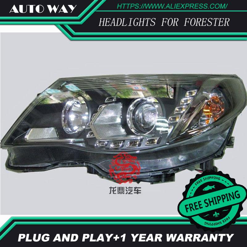 Estilo de coche LED HID LED Subaru Forester faros cabeza cubierta de faro para Subaru Forester faro 2008 2009 lente bi-xenon luz baja