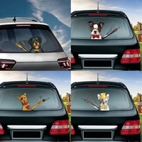 3d car sticker cute cartoon dog series funny moving paw window wiper decal for car styling rear windshield