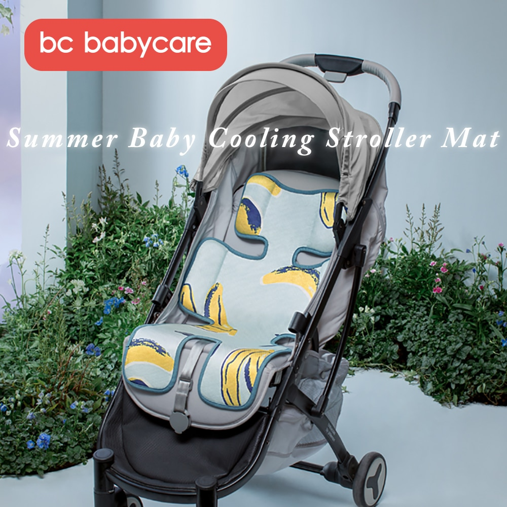 BC Babycare Baby Stroller Accessories Seat Bacteriostatic Breathable Cooling Mint ice silk Mat Infant Highchair Cushion Pad