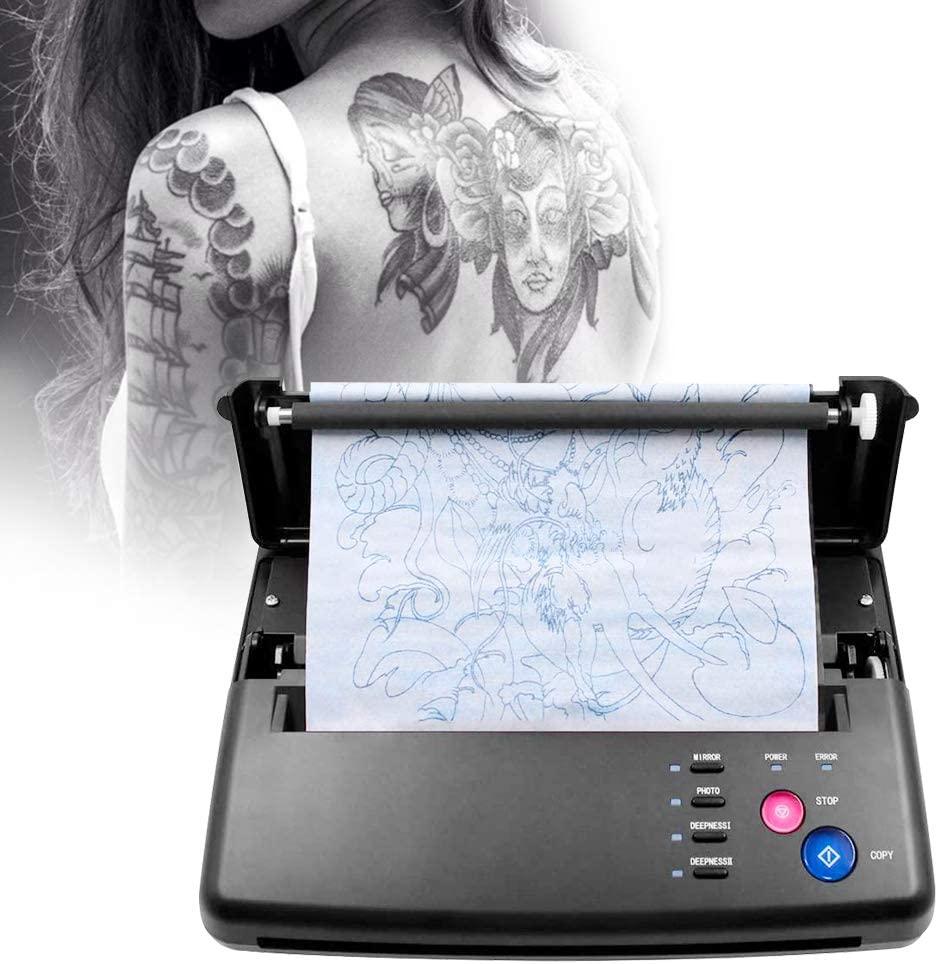 Tattoo Transfer Machine Thermal Printer Tattoo Thermal Stencil Printer Copier Machine + Thermal Transfer Paper /Digital Patterns