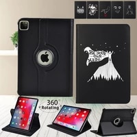 360 degree rotating tablet case for apple ipad pro 9 7pro 10 5 pro 11 2018 2020 new anti fall white picture cover case pen