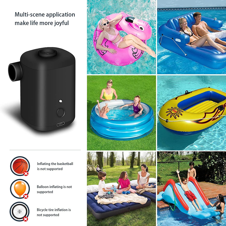 Электрический воздушный насос для надувной лодки, автомобильный воздушный компрессор, надувной насос с соплом, воздушный компрессор, насос...