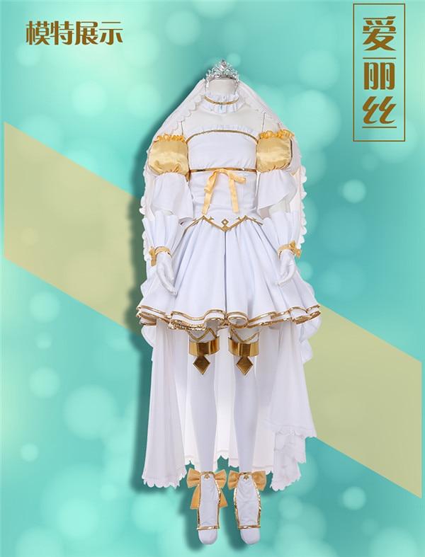 Espada de juego arte en línea SAOALO Alice actualización desmalezadora vestido completo sets envío gratis A