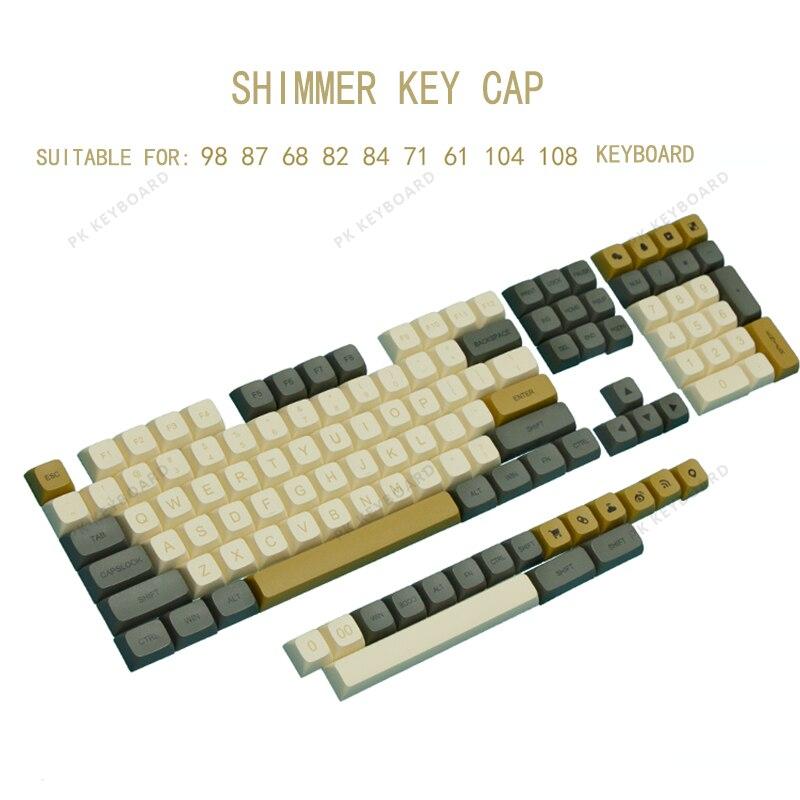أغطية مفاتيح PBT 125 XDA ارتفاع لامع غطاء مفتاح للوحة المفاتيح عملية التسامي الحراري Keycap