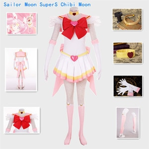 Sailor Moon Chibi Moon SuperS version of the battle suit Halloween Cosplay Costume Small Lady Chibiusa Halloween