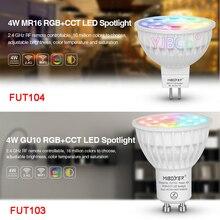 4W RGB + CCT reflektory LED FUT103 GU10 FUT104 MR16 lampa z żarówką led do sypialni restauracja salon kucharz oświetlenie pokoju