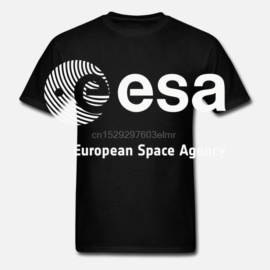 Esa European Space Agency Lunar Cosmos Vega Hubble Iss Schwarz T Hemd