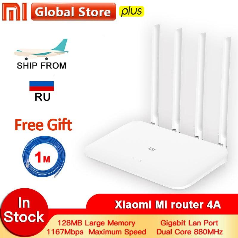 Xiaomi Mi Router 4A Gigabit Edition 100M 1000M 2.4GHz 5GHz WiFi ROM 16MB DDR3 64MB 128MB High Gain 4 Antennas Remote APP Control