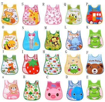 4pc/Lot Baby Bibs Waterproof Cartoon Children Burp Cloths Kids Towel Accessories