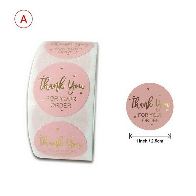 Thank you Stickers Wedding Flower Adhesive Labels 2