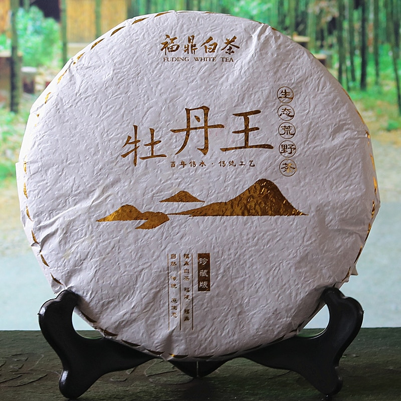 Fuding الأبيض الفاوانيا الشاي الصيني الأبيض 2016 الفاوانيا الملك الأبيض الشاي الصيني باي تشا كعكة 300g