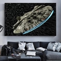 1 pcs science fiction film destroyer falcon spaceship wall posters canvas pictures home decor accessories paintings decoration