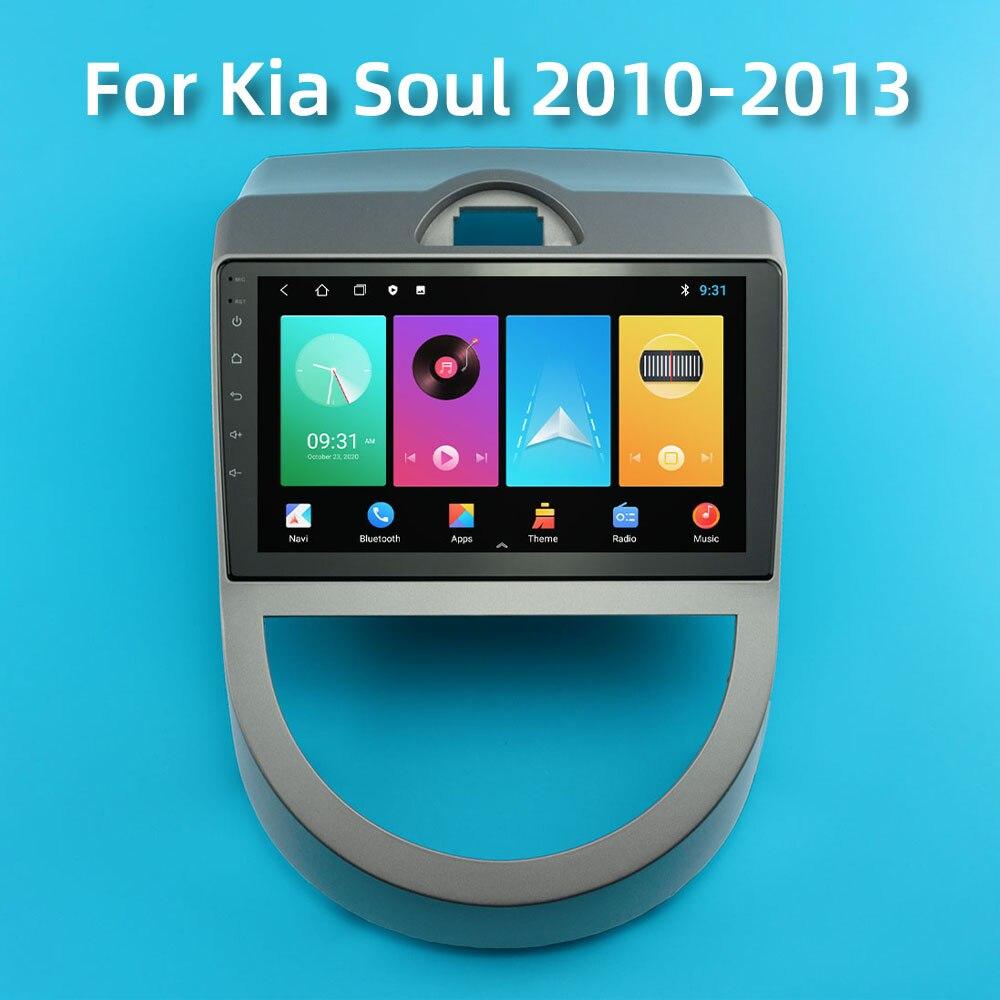 Автомобильный радиоприемник для Kia Soul 2010-2013 Android 2 Din Автомобильный мультимедийный стерео проигрыватель навигация GPS Авторадио головное устр...