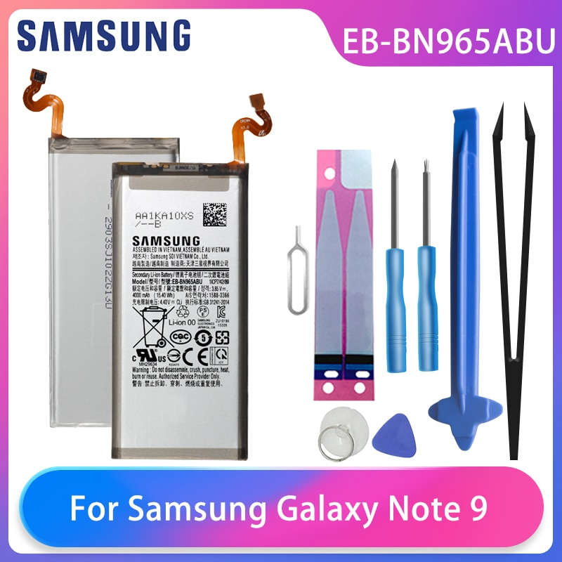 Original Samsung Galaxy Note9 Note 9 SM-N9600 N960F N960U N960N N960W Phone Battery EB-BN965ABU EB-BN965ABE 4000mAh Free Tools enlarge