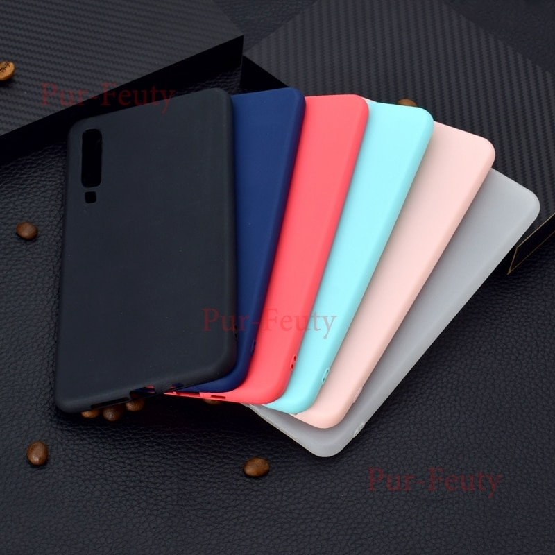 Caso de Huawei P8 Lite ALE-L21 ALE-L23 ALE-L02 de silicona suave TPU caramelo lindo Color teléfono cubierta para Etui Hawei Ericsson p8 Lite P8Lite
