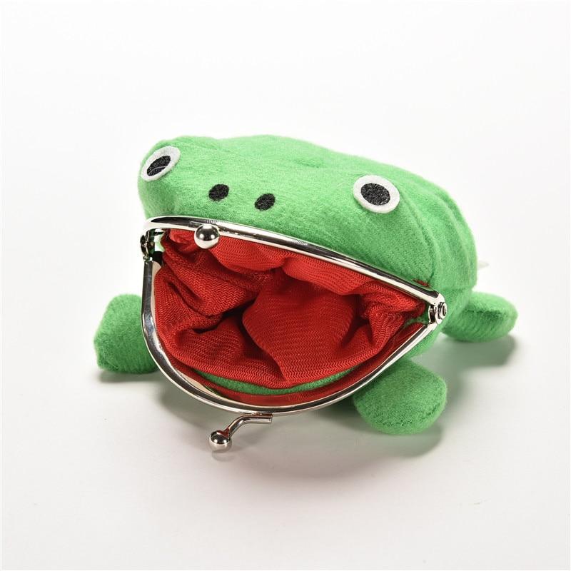 10X12cm Narutos Kunai Ninja Weapon Frog Shape Cosplay Coin Purse Wallet Soft Furry Plush Luma Doll Toy