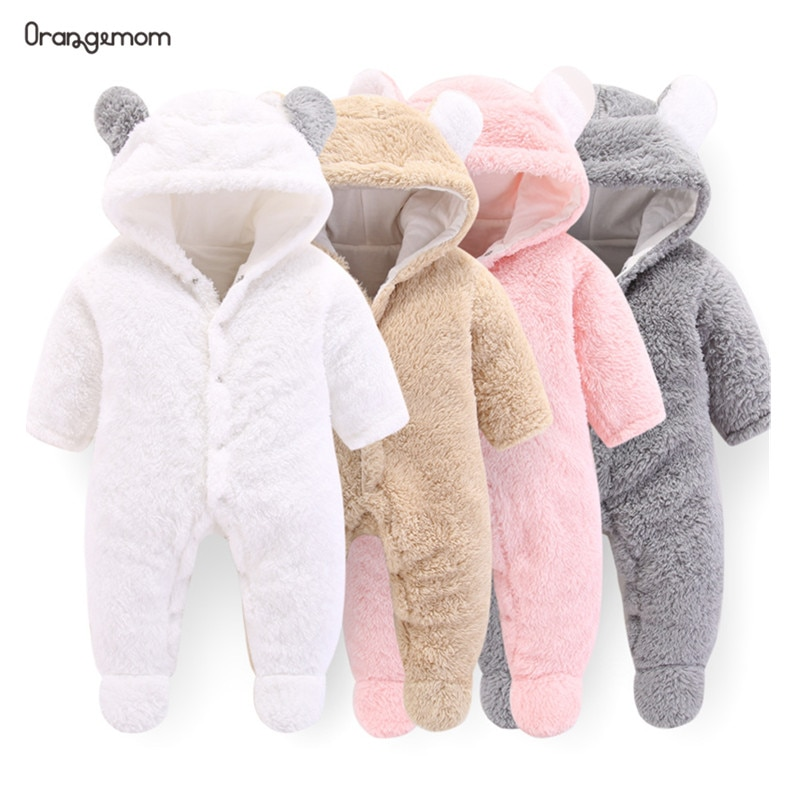 Orangemom Newborn Baby Winter Clothes Infant Baby Girls clothes soft fleece Outwear Rompers baby coa