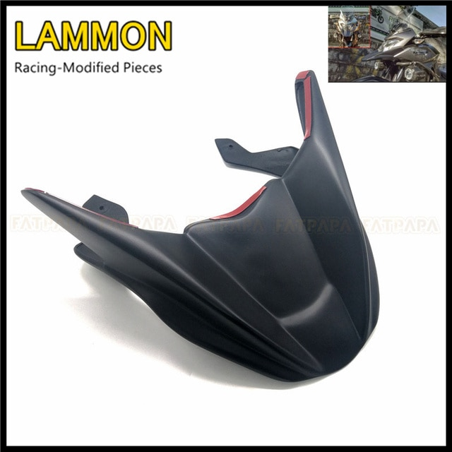 For KAWASAKI Versys300 Versys X300  Versys X-300 Motorcycle Accessories Matte Black ABS Headlight Fairing front Retrofit fender