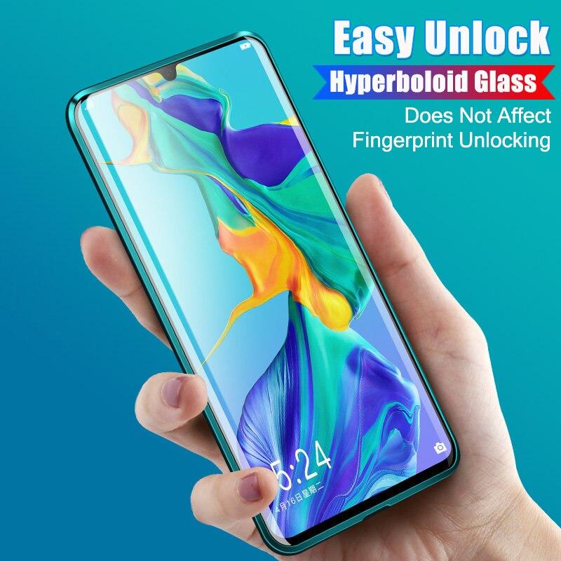 360 ガラスフル保護両面ガラス電話ケース Huawei 社 P30 プロ P30 P30 Lite 磁性金属曲面スクリーンプロテクター