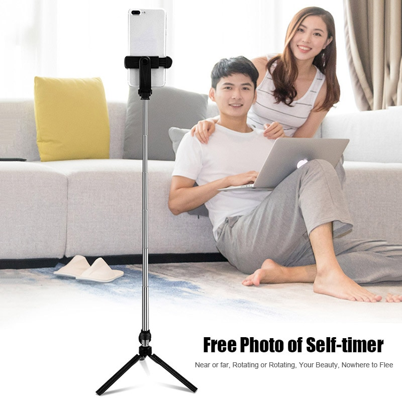 4 In 1 Wireless Bluetooth Selfie Stick with Remote Control for iPhone Samsung Huawei JHP-Best